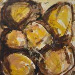 Moderne kunst, maleri, malet af billedkunstner Lene Høffner, Galleri Lykkelig, Svendborg, Fyn, Danmark